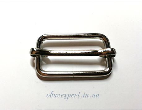 Рамка  с перемычкой  25*13 мм, толщ. 2,5 мм Никель, фото 2
