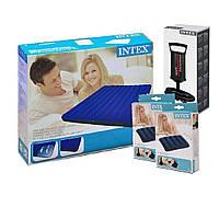 Надувной матрас Intex 68758-2, 137 х 191 х 22 см, с двумя подушками и ручным насосом. Полутораместный