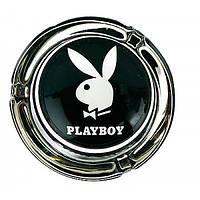 """Пепельница """"PLAYBOY"""" черная стекло"""