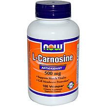 "L-карнозин NOW Foods ""L-Carnosine"" 500 мг (100 капсул)"