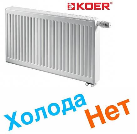 Радиаторы отопления стальные Koer 300*900 22тип (Чехия) Стенка 1,3 мм нижнее поджключение, фото 2