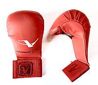 Рукавички (накладки) для карате WKF розмір М червоні, фото 1