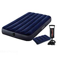 Надувной матрас Intex 68950-2, 76 х 191 х 22 см, с подушкой и ручным насосом. Одноместний