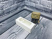 *50 шт* / Коробка для макаронс / 140х55х45 мм / белая / окно-бабочка, фото 1