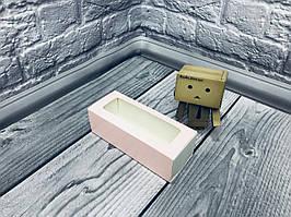*50 шт* / Коробка для макаронс / 140х55х45 мм / печать-Пудра / окно-обычн / лк