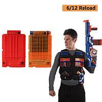 Полупрозрачный магазин для оружия Nerf 6 стрел - Transparent arsenal for weapons Nerf 6 arrows SKL14-156197