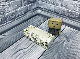 *50 шт* / Коробка для макаронс / 140х55х45 мм / печать-Весна / окно-обычн / лк / цв