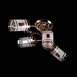 Люстра потолочная с поворотными плафонами P3-07047/3+1 DF/FG+BN