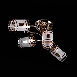 Люстра стельова з поворотними плафонами P3-07047/3+1 DF/FG+BN