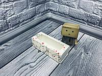 *50 шт* / Коробка для макаронс / 140х55х45 мм / печать-Ангел / окно-обычн / лк, фото 1