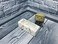 Коробка для макаронс / 140х55х45 мм / печать-Ангел / окно-бабочка / лк, фото 1