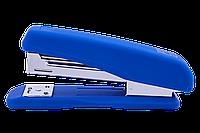 Степлер пластиковый Buromax Rubber Touch 20 листов скобы №24/6 синий