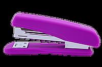 Степлер пластиковый Buromax Rubber Touch 20 листов скобы №24/6 фиолетовый