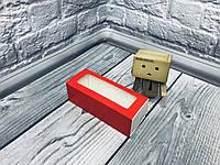 *50 шт* / Коробка для макаронс / 140х55х45 мм / печать-Красн / окно-обычн, фото 1
