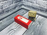 *50 шт* / Коробка для макаронс / 140х55х45 мм / печать-Красн / окно-бабочка, фото 1