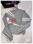 Женский спортивный костюм укороченное худи с лампасами (2 цвета), фото 6