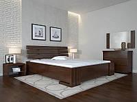 Кровать деревянная Домино ТМ Арбор Древ сосна, 1600х2000, орех темный