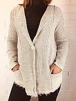 Пиджак женский серый