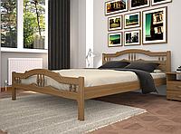 Кровать двуспальная ТИС Юлия 1 сосна орех