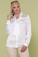 Белая блуза РОКСАНА-Б Д/Р ТМ Glem 50-54 размеры