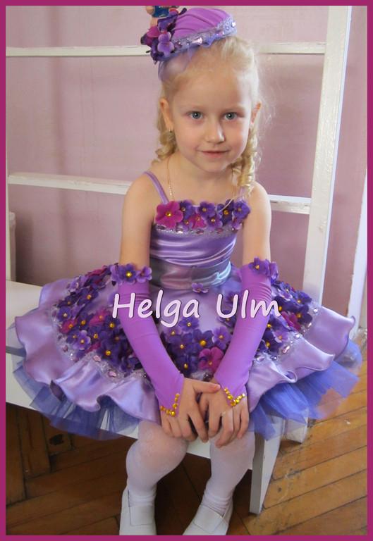 """Створення карнавального костюма """"Фіалка"""" для дівчинки 4 років. 9"""