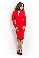Платье футляр ЛОККА красного цвета