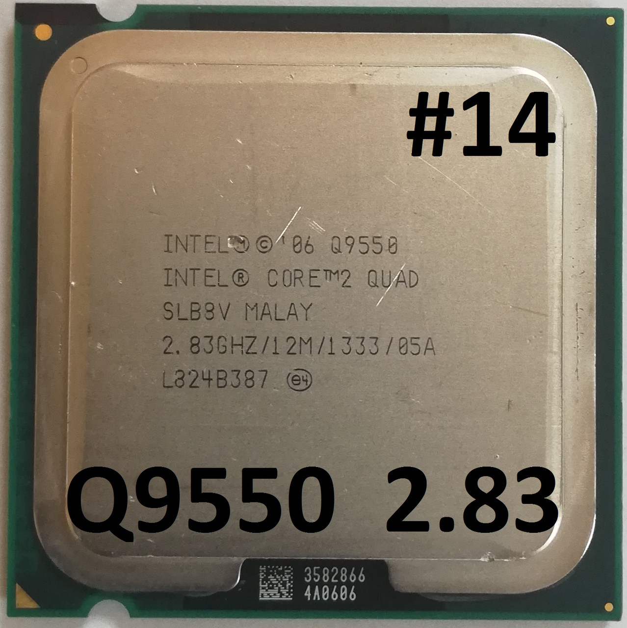 Процессор ЛОТ#14 Intel® Core™2 Quad Q9550 E0 SLB8V 2.83GHz 12M Cache 1333 MHz FSB Socket 775 Б/У
