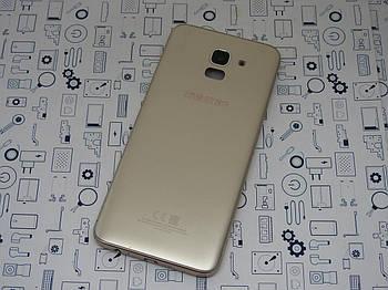 Задняя крышка Samsung Galaxy J6 2018 (J600F) золото Сервисный оригинал с разборки