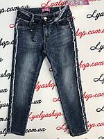 Осенние синие джинсы на девочку, р-ры 8-18 лет