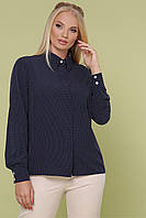 Темно-синяя блуза большого размера ВЕНДИ-Б Д/Р ТМ Glem 50-54 размеры