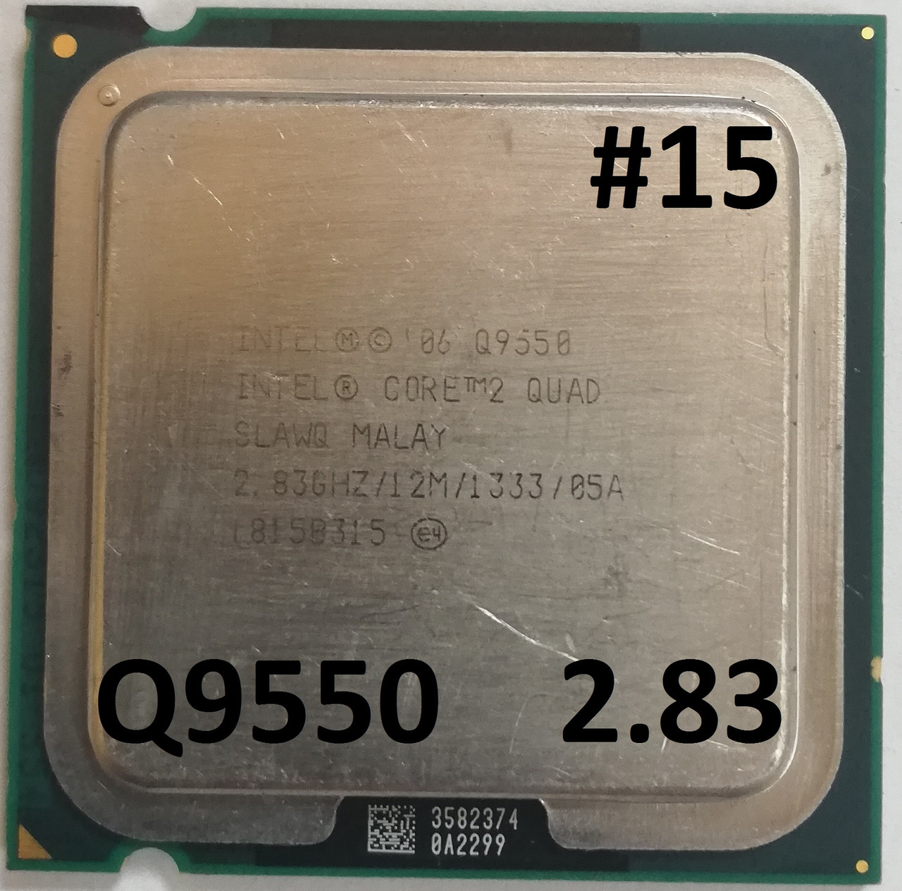 Процессор ЛОТ#15 Intel® Core™2 Quad Q9550 SLAWQ 2.83GHz 12M Cache 1333 MHz FSB Soket 775 Б/У