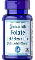 Витамины Puritans Pride Folate 1333 DFE Фолиевая кислота 800мкг 250таб