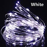 LED Гірлянда Роса 10 метрів (різні кольори), фото 7