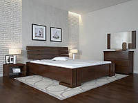 Кровать деревянная двуспальная с подъемным механизмом Домино ТМ Арбор Древ