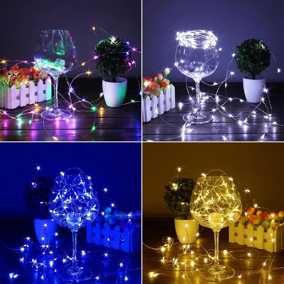 LED Гірлянда Роса 10 метрів (різні кольори)