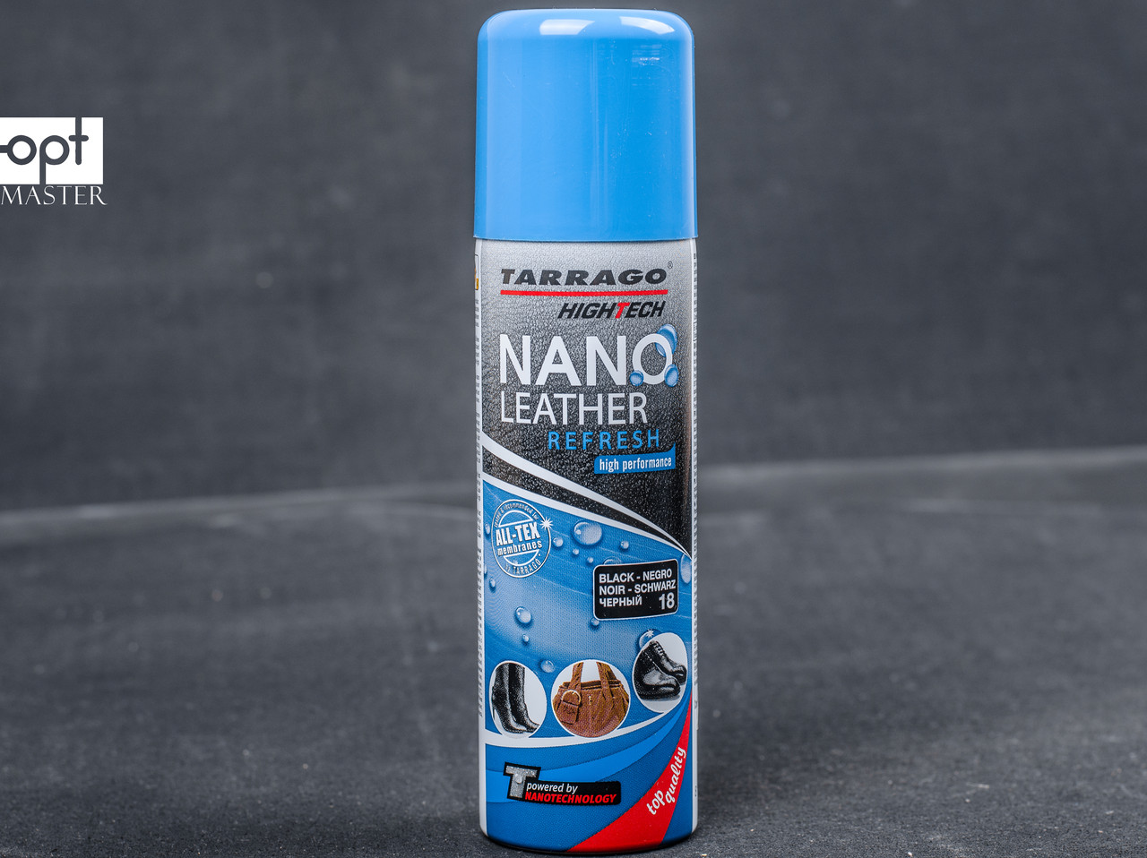 Аэрозоль краска черная для гладкой кожи Tarrago Nano Leather Refresh, 200 мл,TGS20 (18)