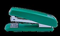 Степлер пластиковый Buromax 20 листов скобы №24/6 зелёный