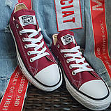 Кеды  All Star Chuck Taylor бордовые низкие, фото 5