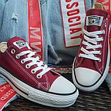 Кеды  All Star Chuck Taylor бордовые низкие, фото 4