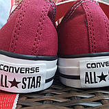 Кеды  All Star Chuck Taylor бордовые низкие, фото 2