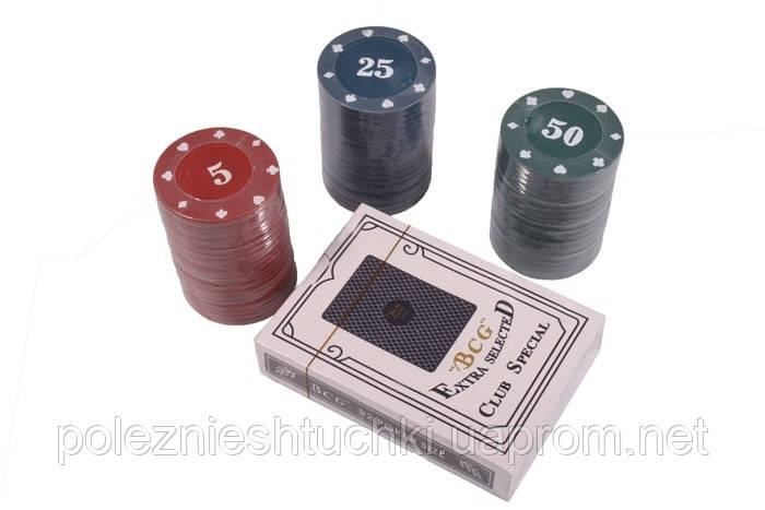 Набор для игры в покер с номиналом, 60 фишек.