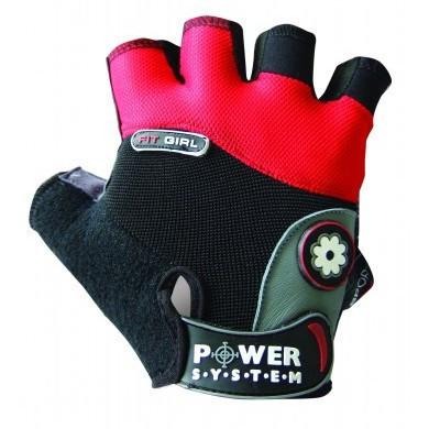 Перчатки для фитнеса и тяжелой атлетики Power System Fit Girl PS-2900 L Black/Red