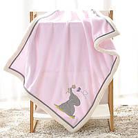 Плед детский, розовый. 75*100 см. Elephant