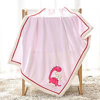 Плед детский, розовый. 75*100 см. Dino