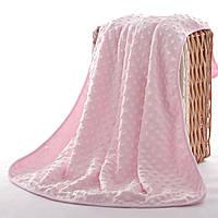 Плед детский, розовый. 75*100 cм Пузырьки.