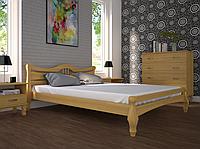 Кровать двуспальная ТИС Корона 1 сосна лак