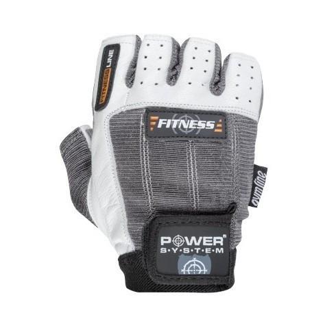 Перчатки для фитнеса и тяжелой атлетики Power System Fitness PS-2300 S Grey/White