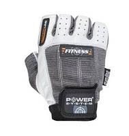 Перчатки для фитнеса и тяжелой атлетики Power System Fitness PS-2300 S Grey/White, фото 1