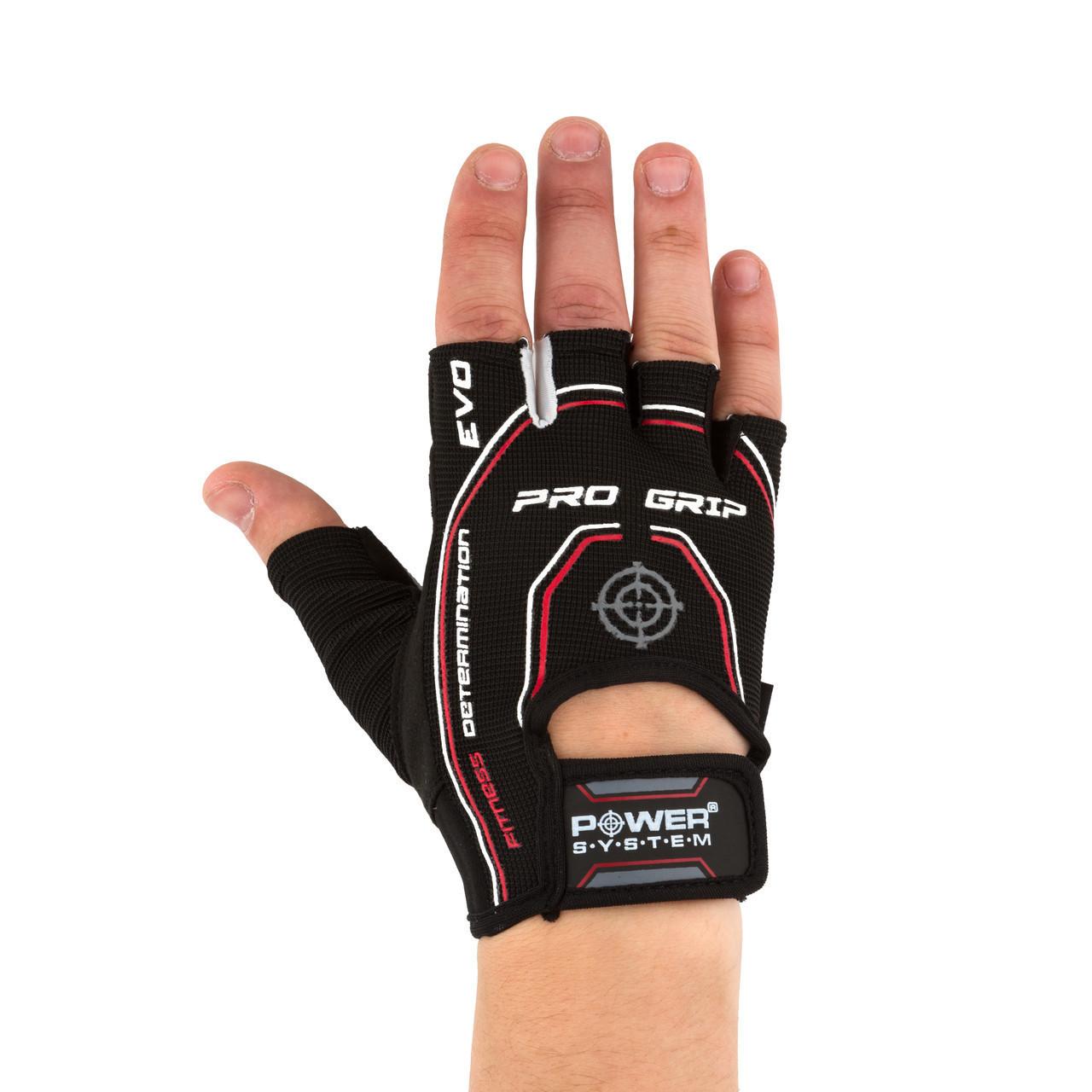 Перчатки для фитнеса и тяжелой атлетики Power System Pro Grip EVO PS-2250E S Black