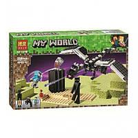 "Конструктор Bela 11169 Minecraft ""Последняя битва"", 228 детали. Аналог Лего Майнкрафт 21151, фото 1"